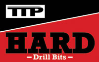 Black, red and white TTP HARD drills logo